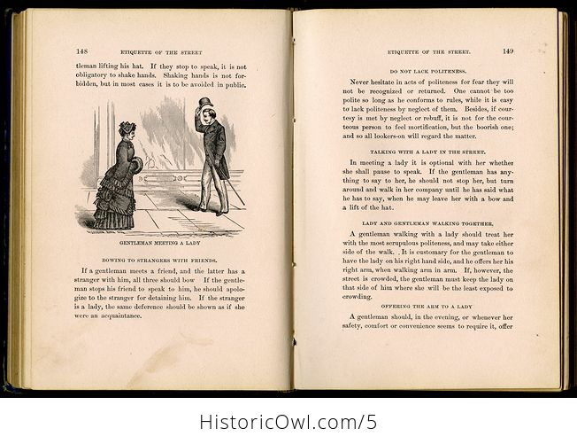 Antique Illustrated Book Our Deportment or the Manners Conduct and Dress of the Most Refined Society by John Young C1882 - #UKgterTqQMA-4
