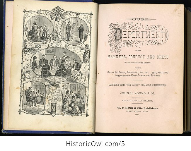 Antique Illustrated Book Our Deportment or the Manners Conduct and Dress of the Most Refined Society by John Young C1882 - #UKgterTqQMA-6
