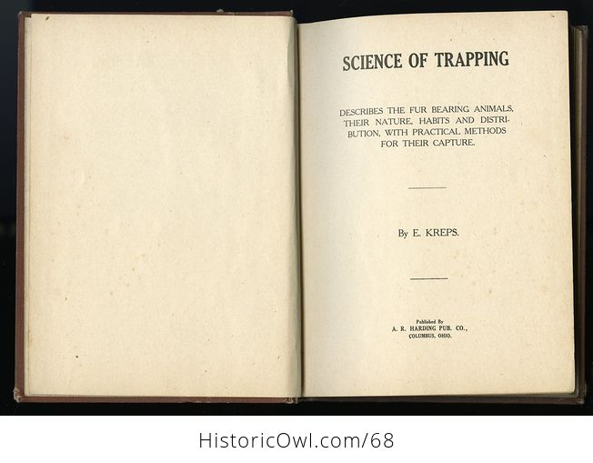 Antique Illustrated Book Science of Trapping by E Kreps C1909 - #JGwoTf6Pl2w-10