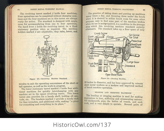 Antique Illustrated Book Sheet Metal Workers Manual by L Broemel C1918 - #6NBmGG1EsWU-7