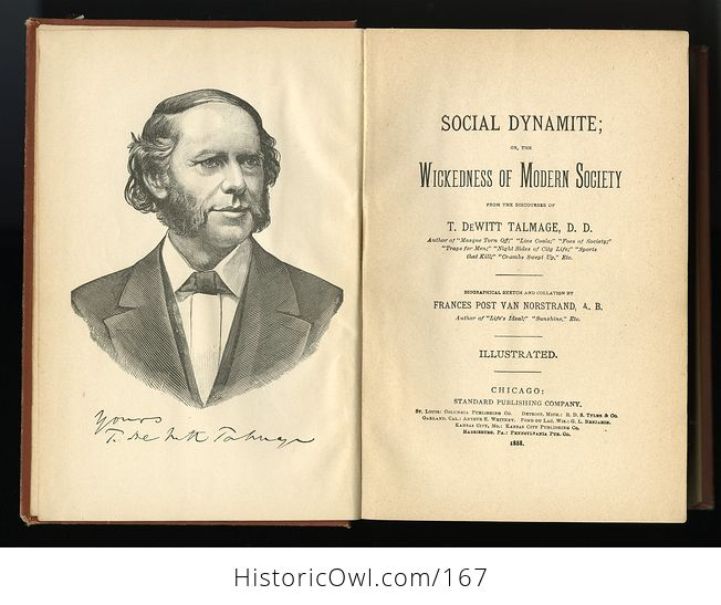 Antique Illustrated Book Social Dynamite or the Wickedness of Modern Society by T Dewitt Talmage C1888 - #PLRqpOru89A-6