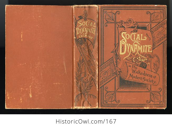 Antique Illustrated Book Social Dynamite or the Wickedness of Modern Society by T Dewitt Talmage C1888 - #PLRqpOru89A-4