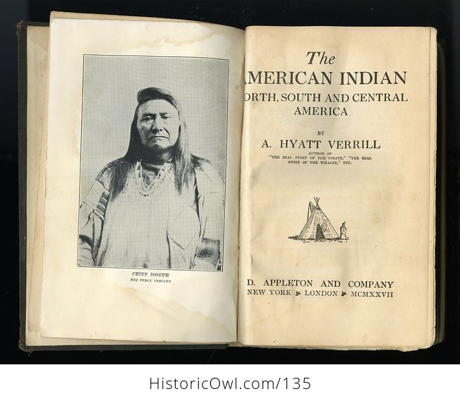 Antique Illustrated Book the American Indian North South and Central America by Hyatt Verrill C1927 Discounted Due to Condition and Missing Pages - #UxkjnaW7WHI-4
