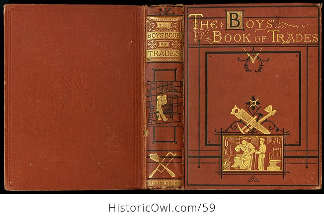 Antique Illustrated Book the Boys Book of Trades by Routledge C 1880 - #2igGvNVWxoE-2