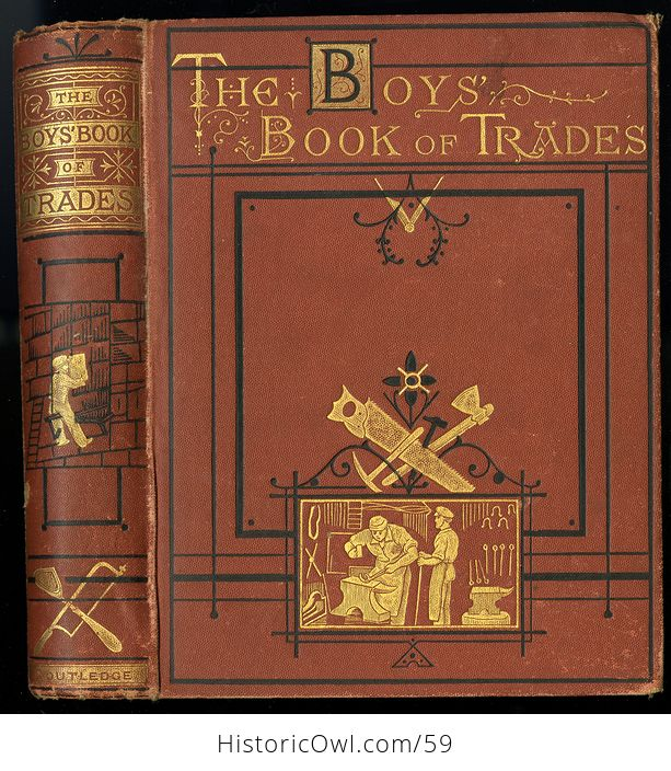 Antique Illustrated Book the Boys Book of Trades by Routledge C 1880 - #2igGvNVWxoE-1