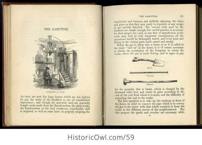 Antique Illustrated Book the Boys Book of Trades by Routledge C 1880 - #2igGvNVWxoE-4
