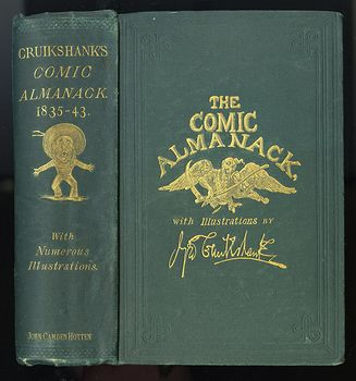 Antique Illustrated Book the Comic Almanack with Illustrations by George Cruikshank First Series 1835 1843 #2z1hkzzBxOA