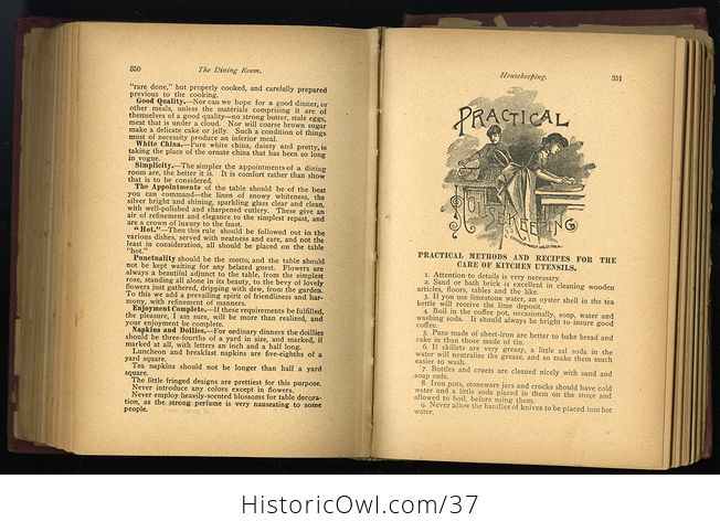 Antique Illustrated Book the Household Guide or Domestic Cyclopedia C1900 - #7vzXZ6NnELs-4