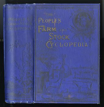 Antique Illustrated Book the Peoples Farm and Stock Cyclopedia by Waldo F Brown C1884 #L9M9jRKklME
