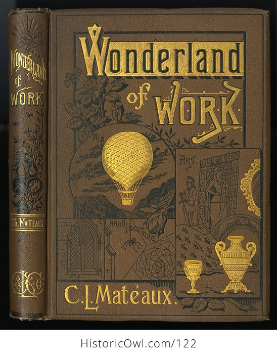 Antique Illustrated Book the Wonderland of Work by C L Mateaux C1870 - #98a21ZqVZ98-1