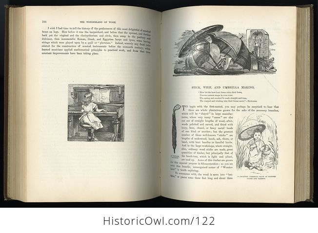 Antique Illustrated Book the Wonderland of Work by C L Mateaux C1870 - #98a21ZqVZ98-8