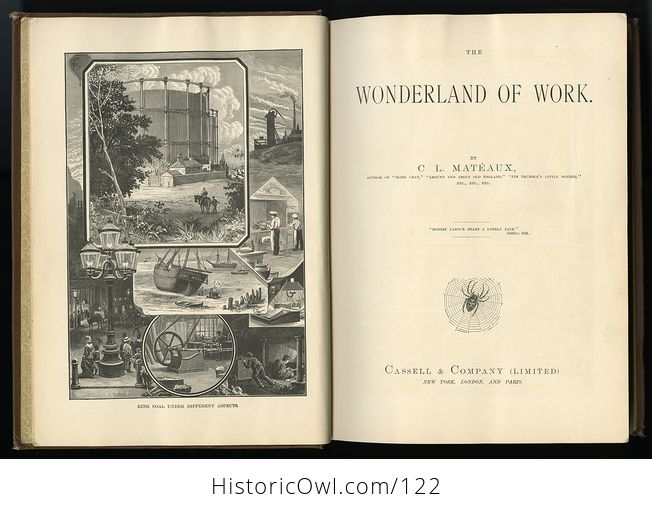 Antique Illustrated Book the Wonderland of Work by C L Mateaux C1870 - #98a21ZqVZ98-10