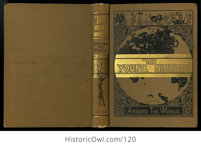 Antique Illustrated Book the Young Nimrods Around the World by Thomas W Knox C1882 - #MVkM5qE2NsI-3
