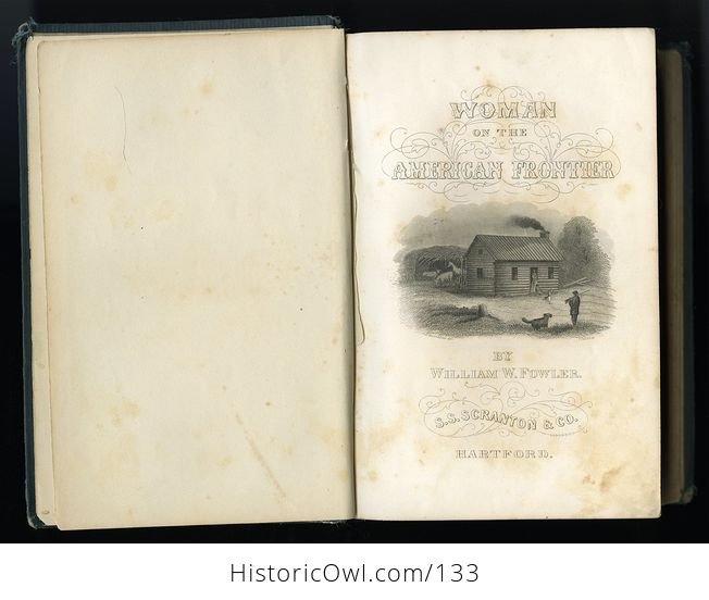 Antique Illustrated Book Woman on the Frontier by William a Fowler C1878 - #vvhWzW5FTE0-9