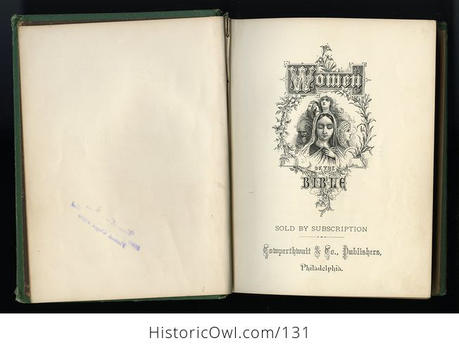 Antique Illustrated Book Women of the Bible by Mrs S T Martyn C1868 - #oVsRFBAWxuY-10