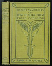 Antique Illustrated Homesteading Book Handy Farm Devices and How to Make Them by Rolfe Cobleigh C1912 #dAI72wj8VEE