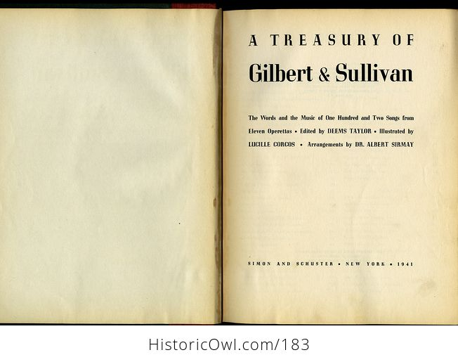 Antique Illustrated Music Book a Treasury of Gilbert and Sullivan C1941 - #64IWp4tAu58-7