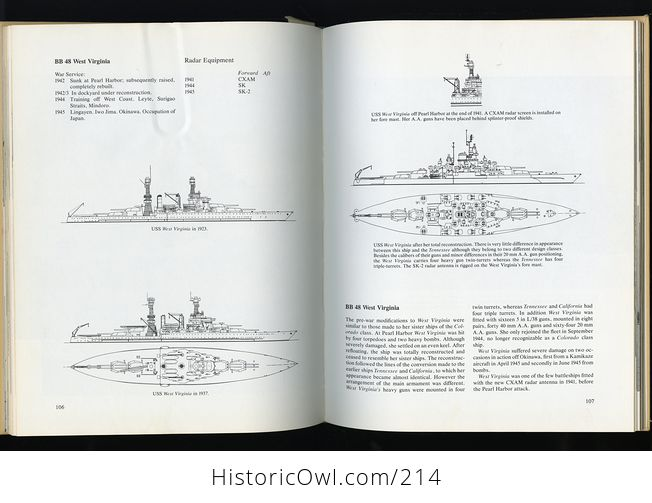 Book Battleships of the Us Navy in World War Ii by Stefan Terzibaschitsch C1977 - #yJWMIGv4Tww-7