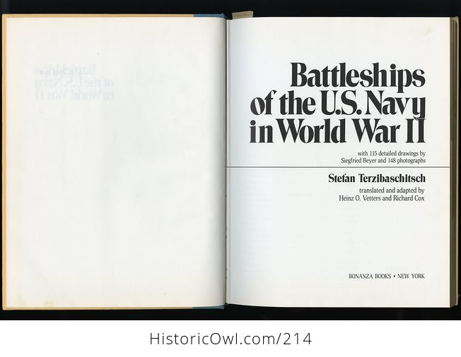 Book Battleships of the Us Navy in World War Ii by Stefan Terzibaschitsch C1977 - #yJWMIGv4Tww-4