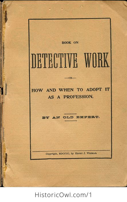 Book on Detective Work or How and when to Adopt It As a Profession - #7ZBJhzzfWic-3