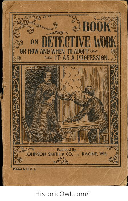 Book on Detective Work or How and when to Adopt It As a Profession - #7ZBJhzzfWic-1