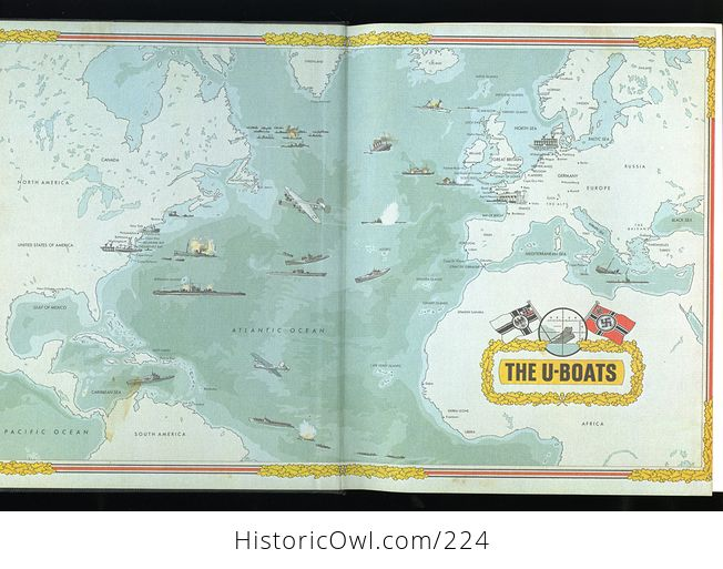 Book the Seafarers the U Boats by Douglas Botting and the Editors of Time Life Books C1979 - #BECw9VtIXB4-3