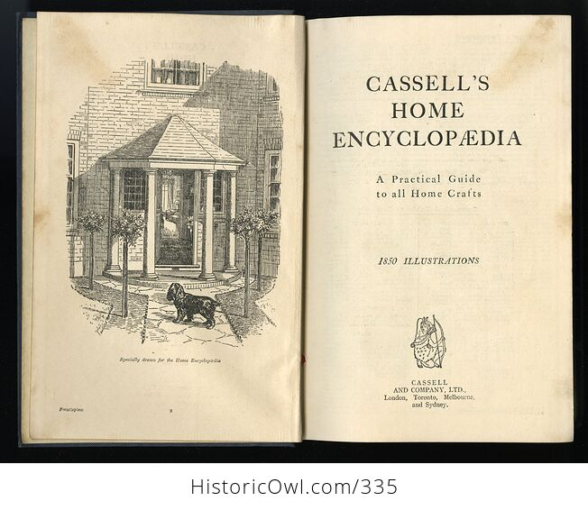 Cassells Home Encyclopedia a Practical Guide to All Home Crafts Antique Illustrated Book - #DqfvTtvvkDs-4