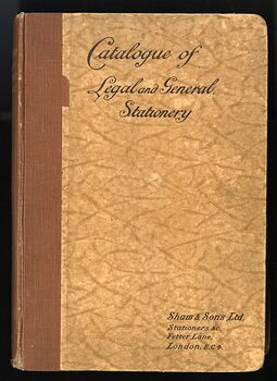 Catalogue of Legal and General Stationery Antique Illustrated Book by Shaw and Sons #frlCAOG7QME