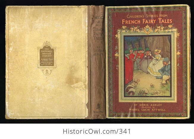 Childrens Stories from French Fairy Tales Antique Book by Doris Ashley - #ShaiVuMw1rg-2