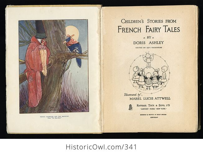 Childrens Stories from French Fairy Tales Antique Book by Doris Ashley - #ShaiVuMw1rg-5
