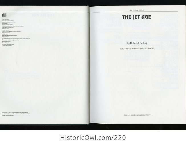 Collectible Time Life Book from the Epic of Flight Set the Jet Age by Robert J Serling C1982 - #ge0Sd8qFKcs-6
