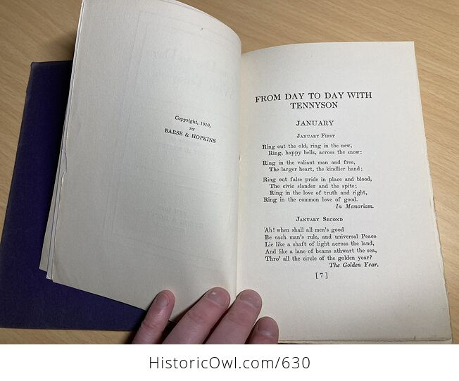 From Day to Day with Tennyson Compiled by Leroy H Westley C1910 - #kTo2dwY7ato-7
