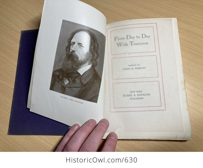 From Day to Day with Tennyson Compiled by Leroy H Westley C1910 - #kTo2dwY7ato-5