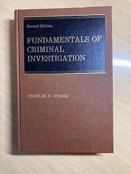 Fundamentals of Criminal Investigation Book by Charles Ohara C1970 #fPKPwtYU0Os