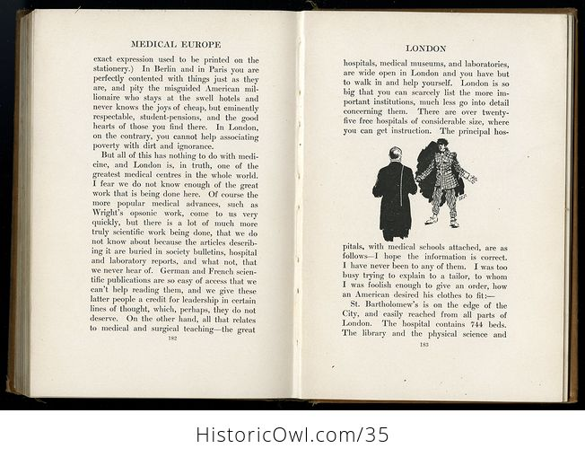 Glimpses of Medical Europe Antique Book by R L Thompson Md C1908 - #RrS3TbR0VmU-3