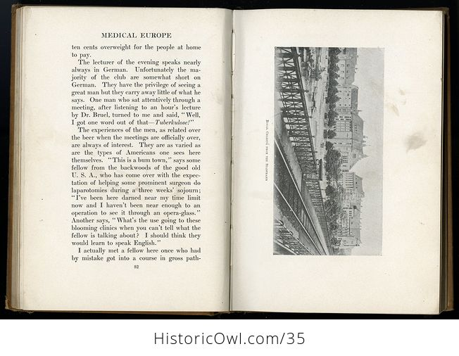 Glimpses of Medical Europe Antique Book by R L Thompson Md C1908 - #RrS3TbR0VmU-10
