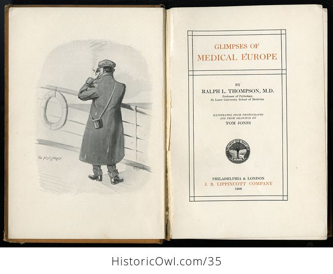 Glimpses of Medical Europe Antique Book by R L Thompson Md C1908 - #RrS3TbR0VmU-5