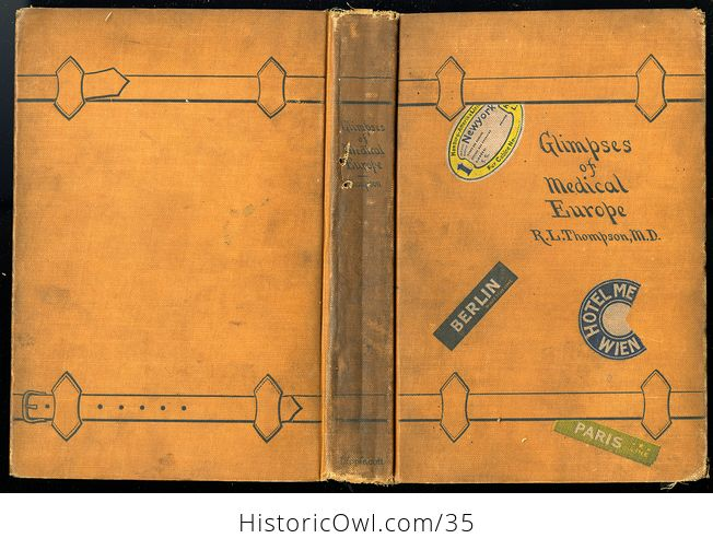 Glimpses of Medical Europe Antique Book by R L Thompson Md C1908 - #RrS3TbR0VmU-2
