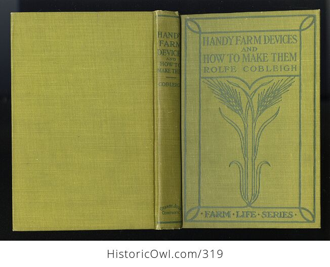 Handy Farm Devices and How to Make Them Antique Illustrated Book by Rolfe Cobleigh C1912 - #nBODigSD9N8-2