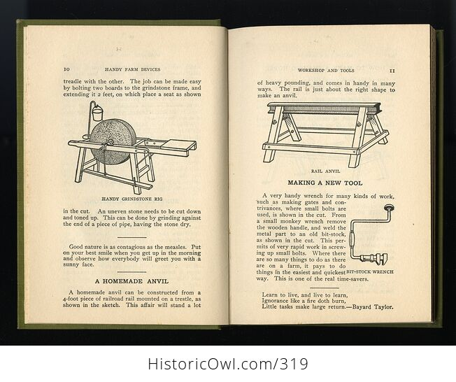 Handy Farm Devices and How to Make Them Antique Illustrated Book by Rolfe Cobleigh C1912 - #nBODigSD9N8-5