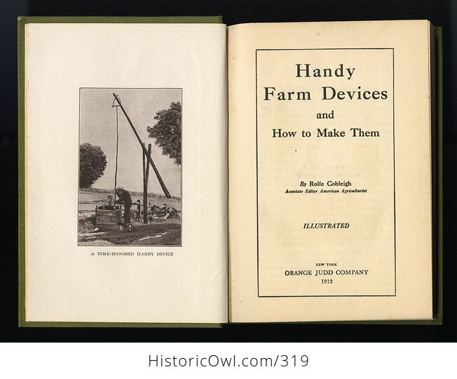 Handy Farm Devices and How to Make Them Antique Illustrated Book by Rolfe Cobleigh C1912 - #nBODigSD9N8-3