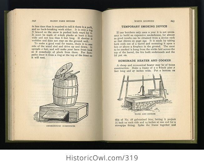Handy Farm Devices and How to Make Them Antique Illustrated Book by Rolfe Cobleigh C1912 - #nBODigSD9N8-8