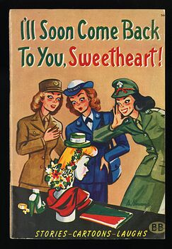 Ill Soon Come Back to You Sweetheart Vintage Stories Cartoons Laughs by R M Barrows C1944 #DSejl3iUdho