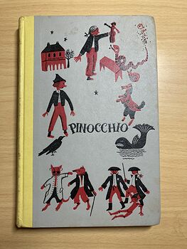 Junior Deluxe Editions Vintage Book Pinocchio by Carlo Collodi Illustrated by Roberta Macdonald Cmcmlv 1955 #pWLcZ7hoXys