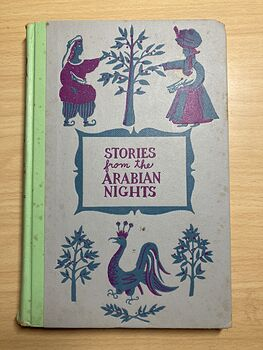 Junior Deluxe Editions Vintage Book Stories from the Arabian Nights Retold by Laurence Housman and Sinbad the Sailor Illustrated by Girard Goodenow Cmcmlv 1955 #QiFJh2RfqvI