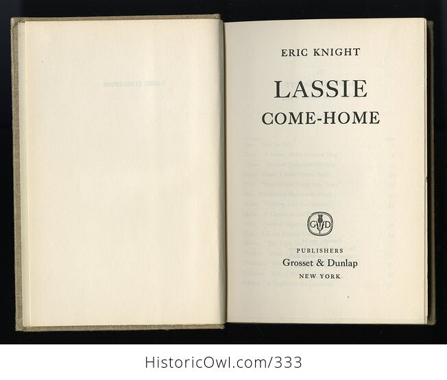 Lassie Come Home Vintage Book by Eric Knight C1940 - #Q4unFGnJ9EI-2