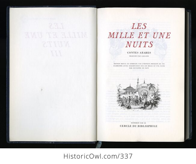 Les Mille Et Une Nuits Contes Arabes Traduits Par Galland 3 Volume Set of the Thousand and One Nights in French - #ISCpnTAxL9s-11