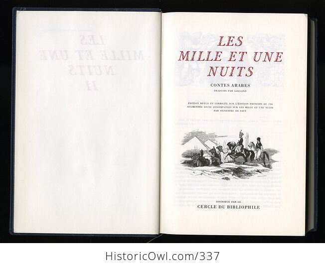 Les Mille Et Une Nuits Contes Arabes Traduits Par Galland 3 Volume Set of the Thousand and One Nights in French - #ISCpnTAxL9s-8
