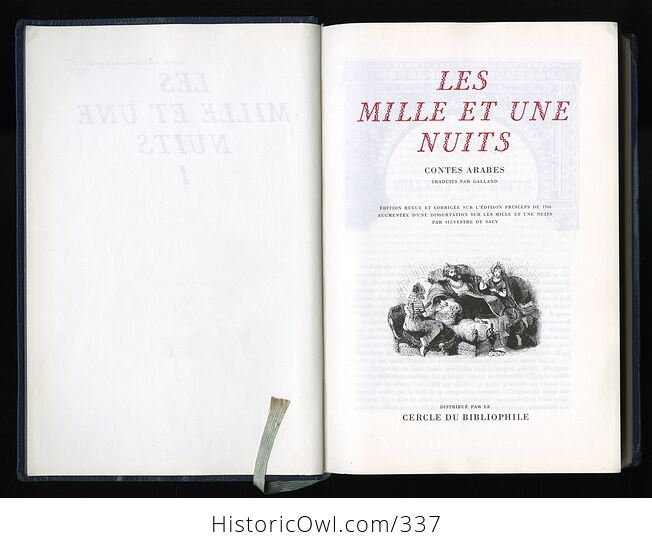 Les Mille Et Une Nuits Contes Arabes Traduits Par Galland 3 Volume Set of the Thousand and One Nights in French - #ISCpnTAxL9s-5