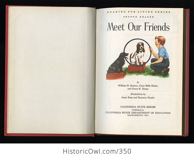 Meet Our Friends Vintage Reading for Living Book B Ywilliam Burton Clara Belle Baker and Grace Kemp C1956 - #y2dOtxJkiM8-4